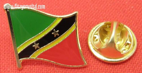 Saint Kitts and Nevis Flag Lapel Hat Cap Tie Pin Badge St Christopher & Nevis